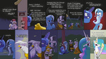 beard comic derpy_hooves gilda highres princess_celestia princess_luna the_great_and_powerful_trixie thestoicmachine trollestia zecora