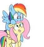fluttershy pegacornss pony_ride_the_pony rainbow_dash riding transparent