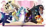 book c-puff discord king_sombra mickeymonster princess_celestia princess_luna queen_chrysalis sunset_shimmer tamalesyatole tirek