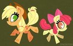 apple_bloom applejack highres spacekitsch