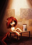 butterfly highres jar koviry original_character pencil table