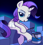 filly gsphere i_shall_not_use_my_hooves_as_hands paint paintbrush rarity
