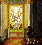 highres koviry original_character princess_celestia stained_glass