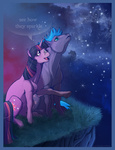 aspendragon blindbag border cheap_recolors highres horselike nighttime redesign text twilight_sky twilight_sparkle