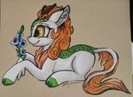 autumn_blaze flowers gleamydreams highres kirin traditional_art