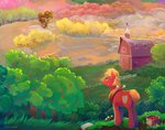 apples big_macintosh highres orchard scenery sweet_apple_acres trees viwrastupr