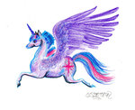 horselike princess_twilight stephaniesmall traditional_art twilight_sparkle