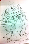 little magic pinkie_pie sketch the_great_and_powerful_trixie xxmioxx