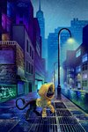 city highres holivi original_character rain scenery