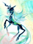 fleebites queen_chrysalis traditional_art