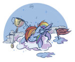 amy-gamy cloud rainbow_dash sleeping trophy