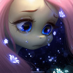 flowers fluttershy highres queen-kittykat tears