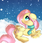 autumnvoyage fluttershy highres scarf snow winter