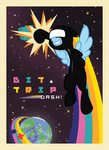 bit.trip border broccolimeansfun catsuit planet rainbow_dash space