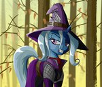 akweer clothes costume forest hat highres the_great_and_powerful_trixie trees witch