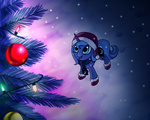 boots christmas christmas_tree corruptedpoeny hat princess_luna snow snowing winter young