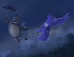 crossover grayma1k my_neighbor_totoro princess_luna totoro umbrella