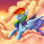 absurdres cloud highres kaikururu rainbow_dash