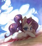 beach highres mirroredsea rarity towel
