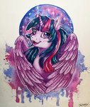 princess_twilight tanukiri traditional_art twilight_sparkle