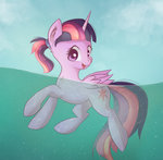 autumnvoyage highres princess_twilight sea swimming twilight_sparkle water