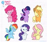 applejack egophiliac fluttershy main_six pinkie_pie princess_twilight rainbow_dash rarity twilight_sparkle