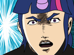 cromartie_high croponyhigh crossover horn humanized parody reaction_image takashi_kamiyama twilight_sparkle txlegionnaire