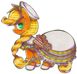 akikodestroyer applejack dress steampunk transparent