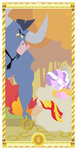diamond_tiara highres horseshoe iron_will janeesper sunset_shimmer tarot