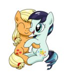 applejack coloratura filly highres hugs zoruanna