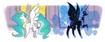 egophiliac nightmare_moon princess_celestia