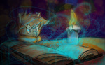 book candle epz-379 filly magic reading starswirl_the_bearded young