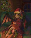 bat_pony christmas_tree hat highres malinetourmaline original_character tree