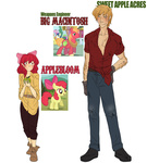 apple_bloom big_macintosh highres humanized military puzzle-of-life transparent