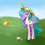 astarothathros flowers hat magic princess_celestia spaerk watering_can