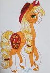 applejack fat-bot highres redesign traditional_art