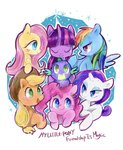 applejack fluttershy highres main_six osawari64 pinkie_pie rainbow_dash rarity spike twilight_sparkle