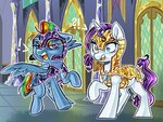 armor guard_pony helmet rainbow_dash rarity schokocream