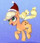 applejack hat highres kas92 santa_hat