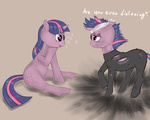 bandage catsuit eyepatch future_twilight paint-paint twilight_sparkle