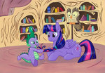 owlowiscious princess_twilight spike twilight_sparkle yote