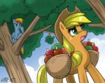 applejack apples johnjoseco rainbow_dash
