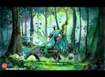 absurdres forest highres mashiromiku queen_chrysalis traditional_art trees