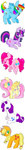 applejack fluttershy highres main_six pinkie_pie rainbow_dash rarity suippamato tall_image long_image twilight_sparkle