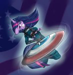anthro captain_america highres shield superheroes twilight_sparkle uniform vicse