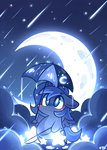 cutie_mark fishing_pole highres mackinn7 moon princess_luna rain umbrella young