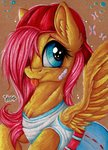 cap dress fluttershy hat highres julunis14 traditional_art