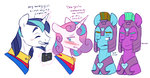absurdres doodle-mark grown_up guard_pony highres magic princess_flurry_heart shining_armor
