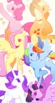 absurdres applejack choombie fluttershy highres main_six pinkie_pie princess_twilight rainbow_dash rarity twilight_sparkle