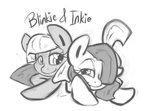 grayscale leadhooves limestone_pie marble_pie siblings